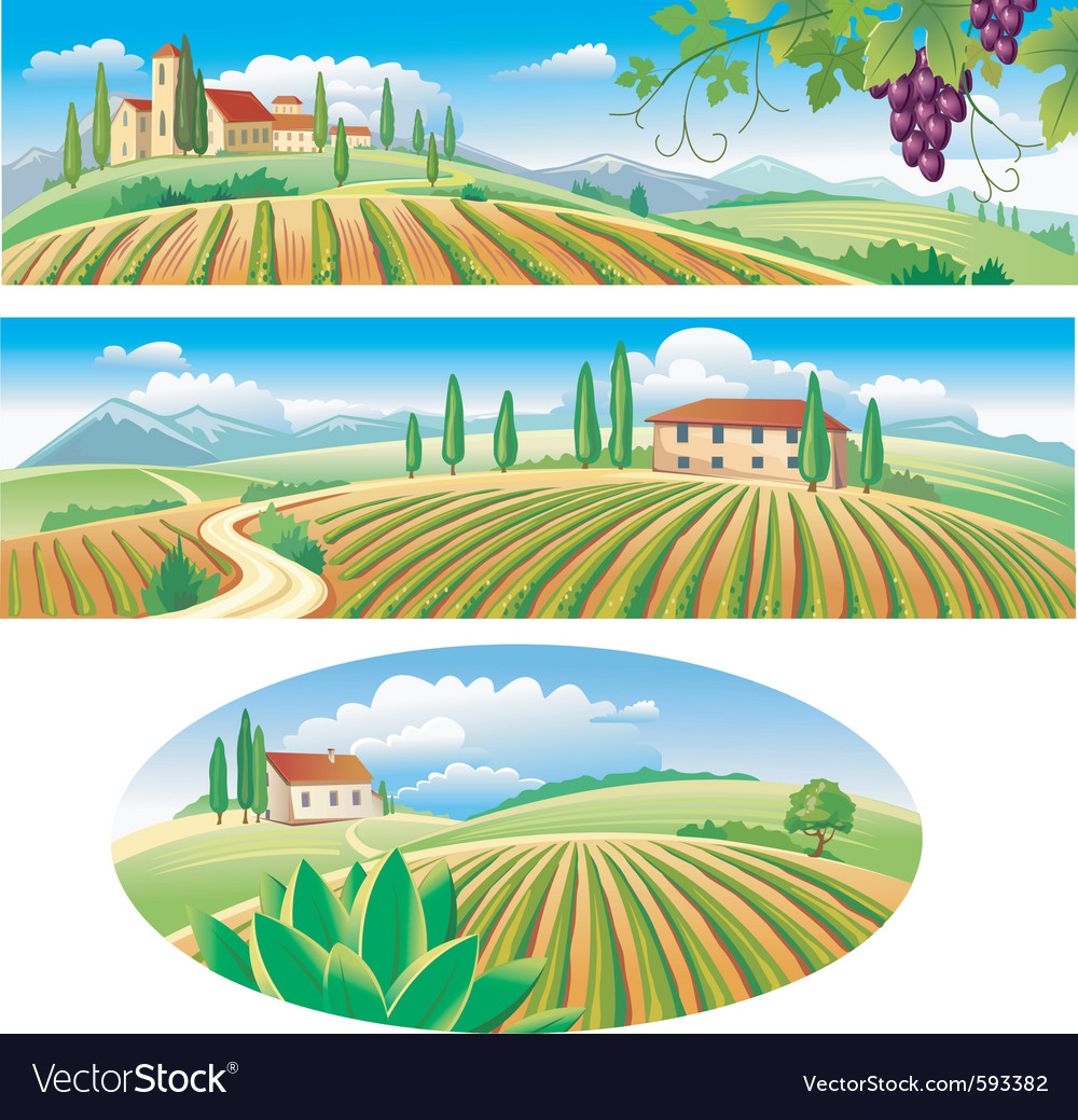 Agriculture landscapes vector | Price: 3 Credit (USD $3)