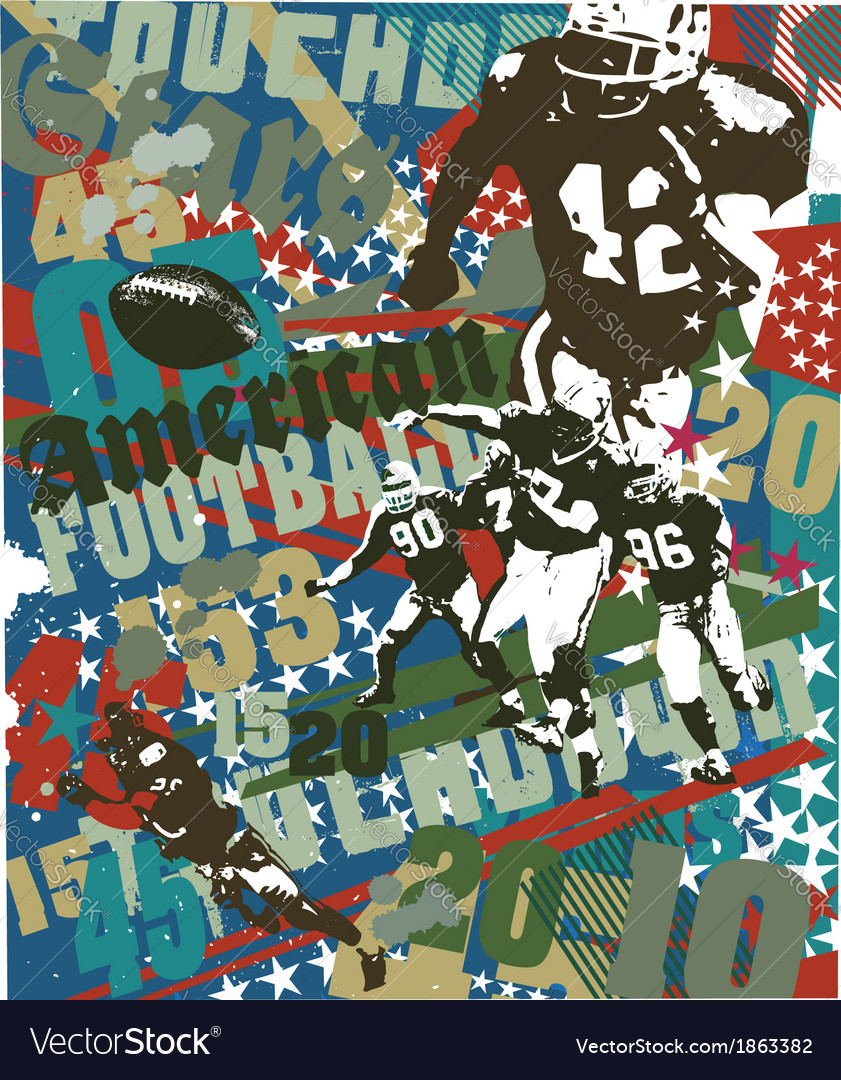 American football touchdown vector | Price: 1 Credit (USD $1)