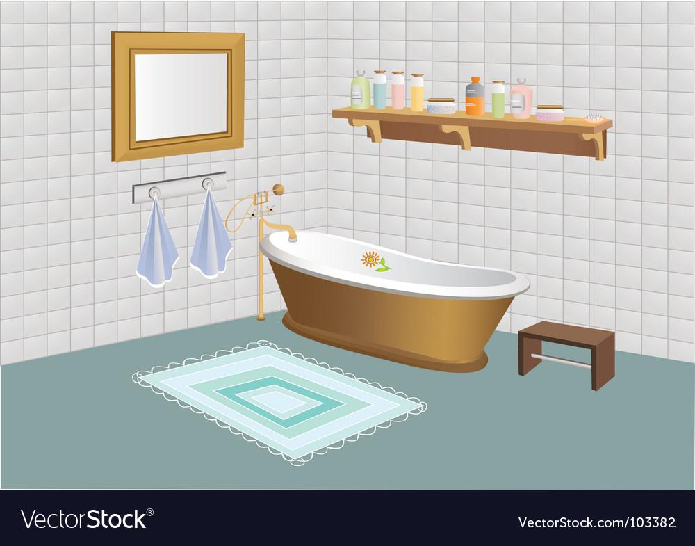 The bathroom vector | Price: 3 Credit (USD $3)