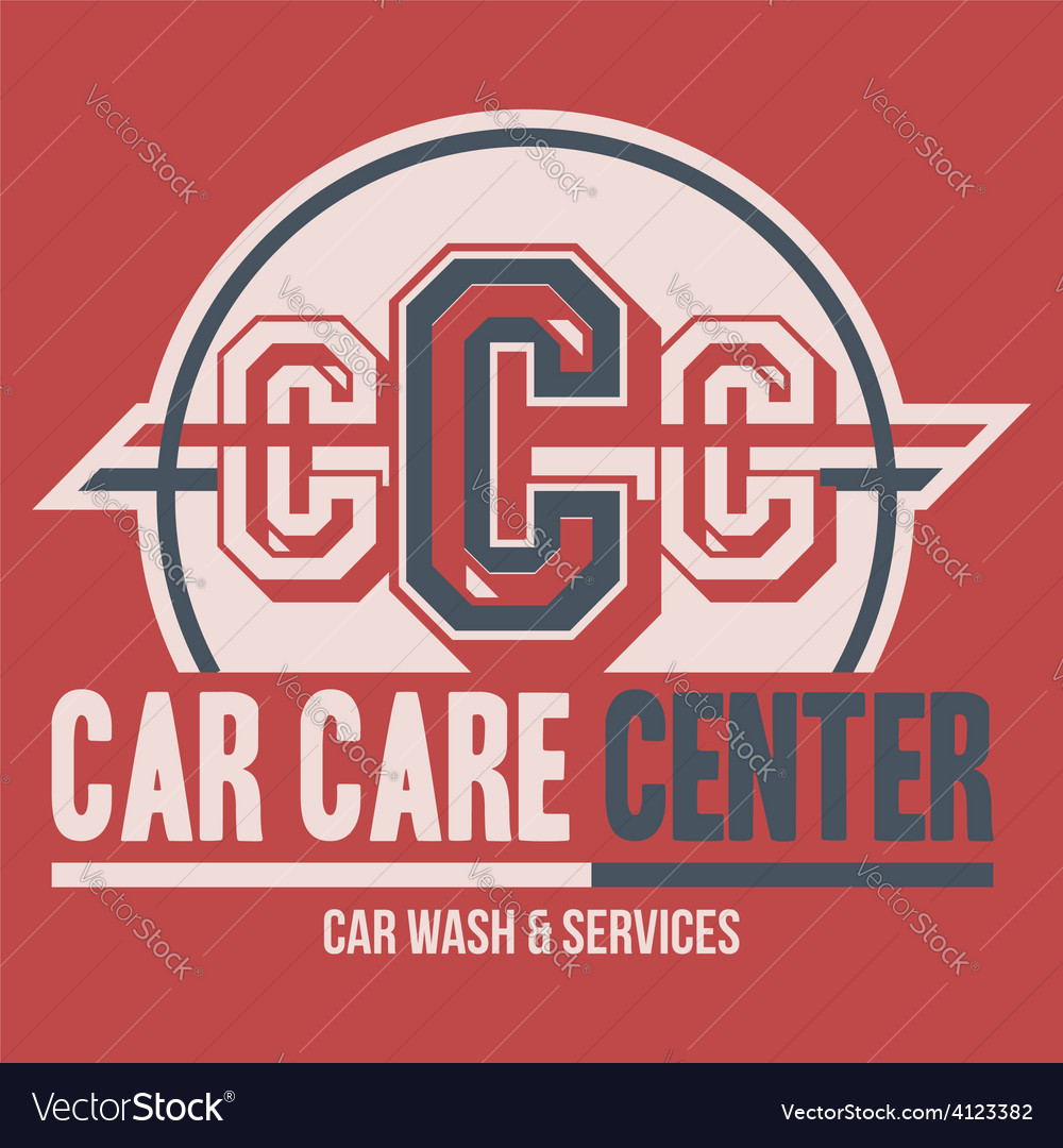 Car care center label t-shirt vector | Price: 1 Credit (USD $1)