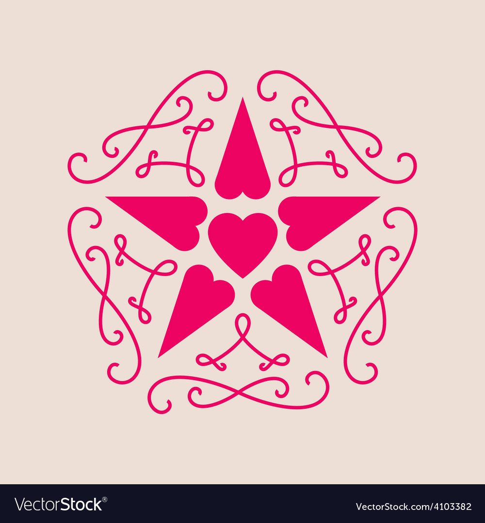 Elegant line art for valentines day floral vector | Price: 1 Credit (USD $1)