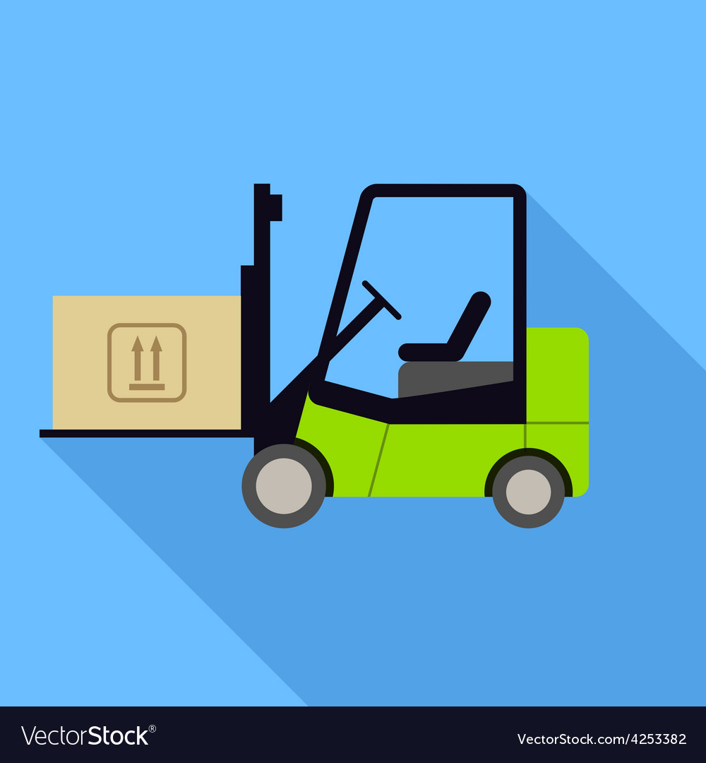 Forklift icon vector | Price: 1 Credit (USD $1)