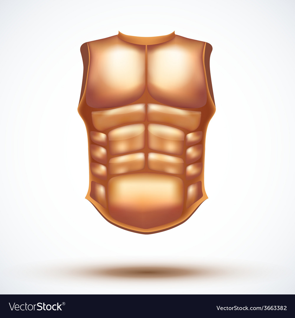 Golden ancient gladiator body armor vector | Price: 1 Credit (USD $1)