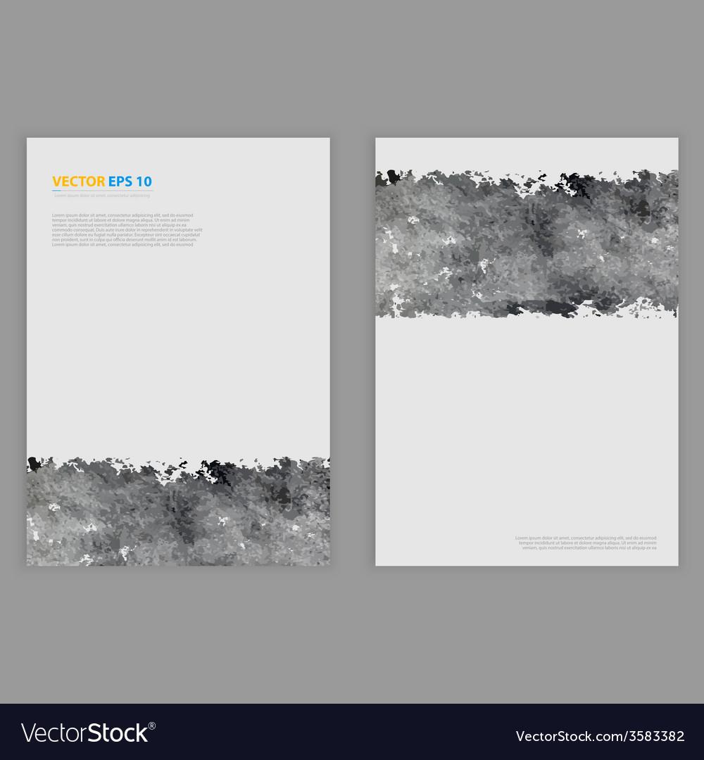 Grunge template flyer design vector | Price: 1 Credit (USD $1)