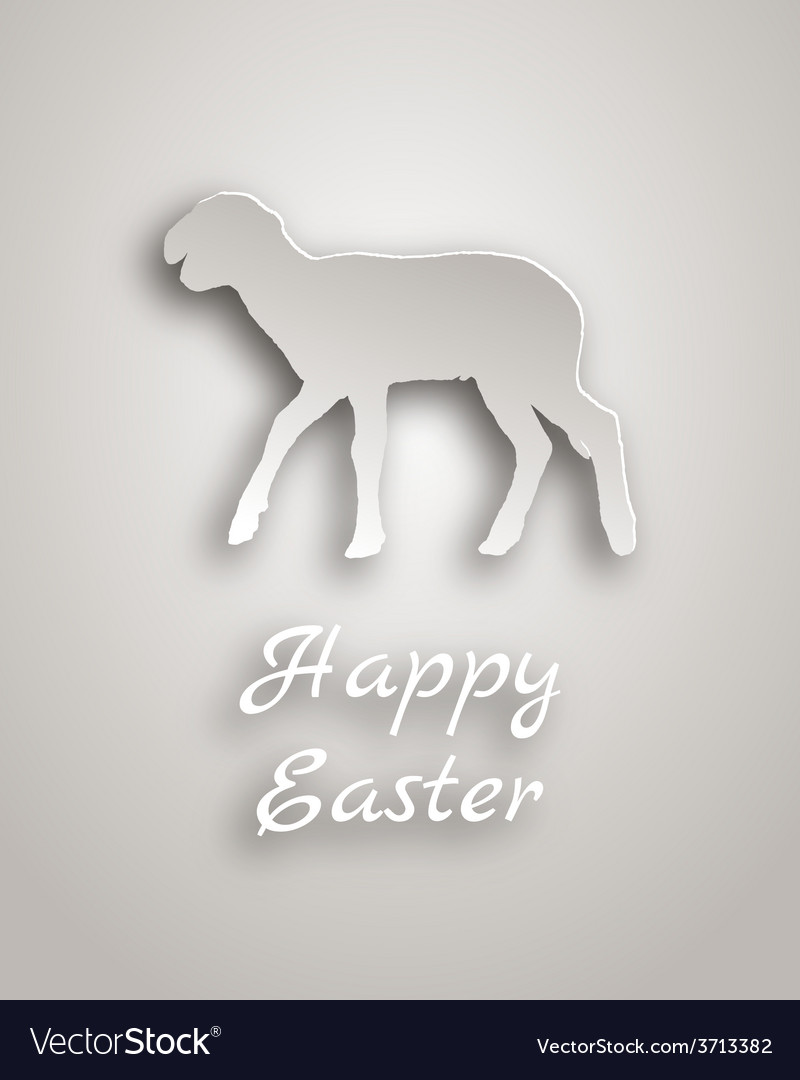 Lamb paper style vector | Price: 1 Credit (USD $1)
