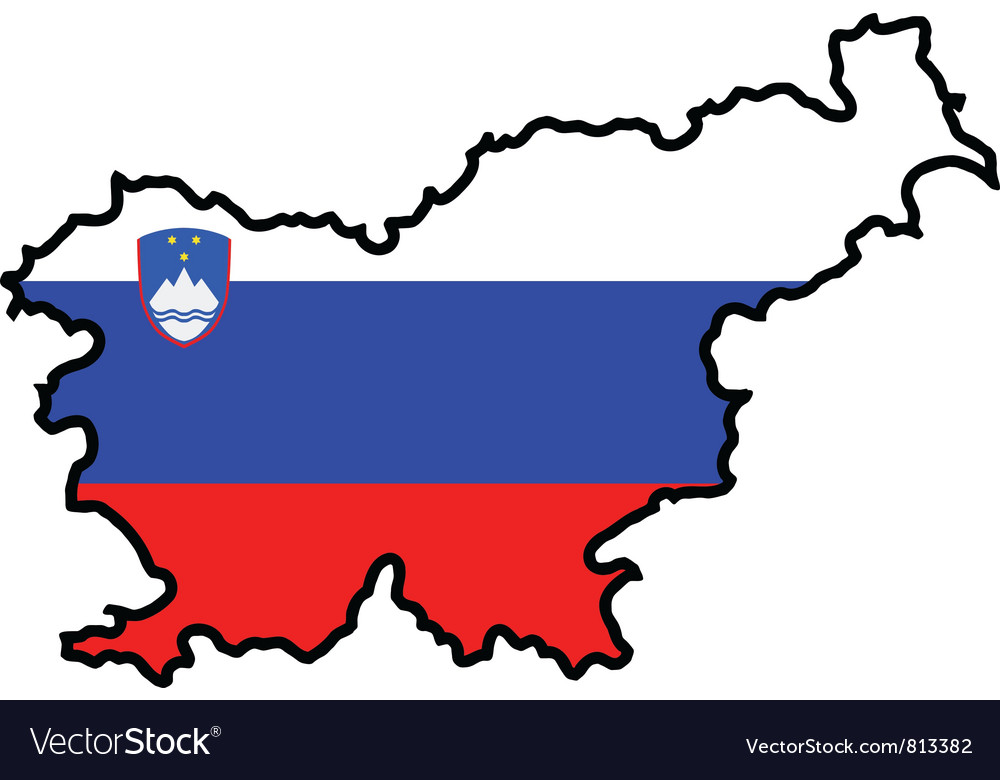 Map in colors of slovenia vector | Price: 1 Credit (USD $1)