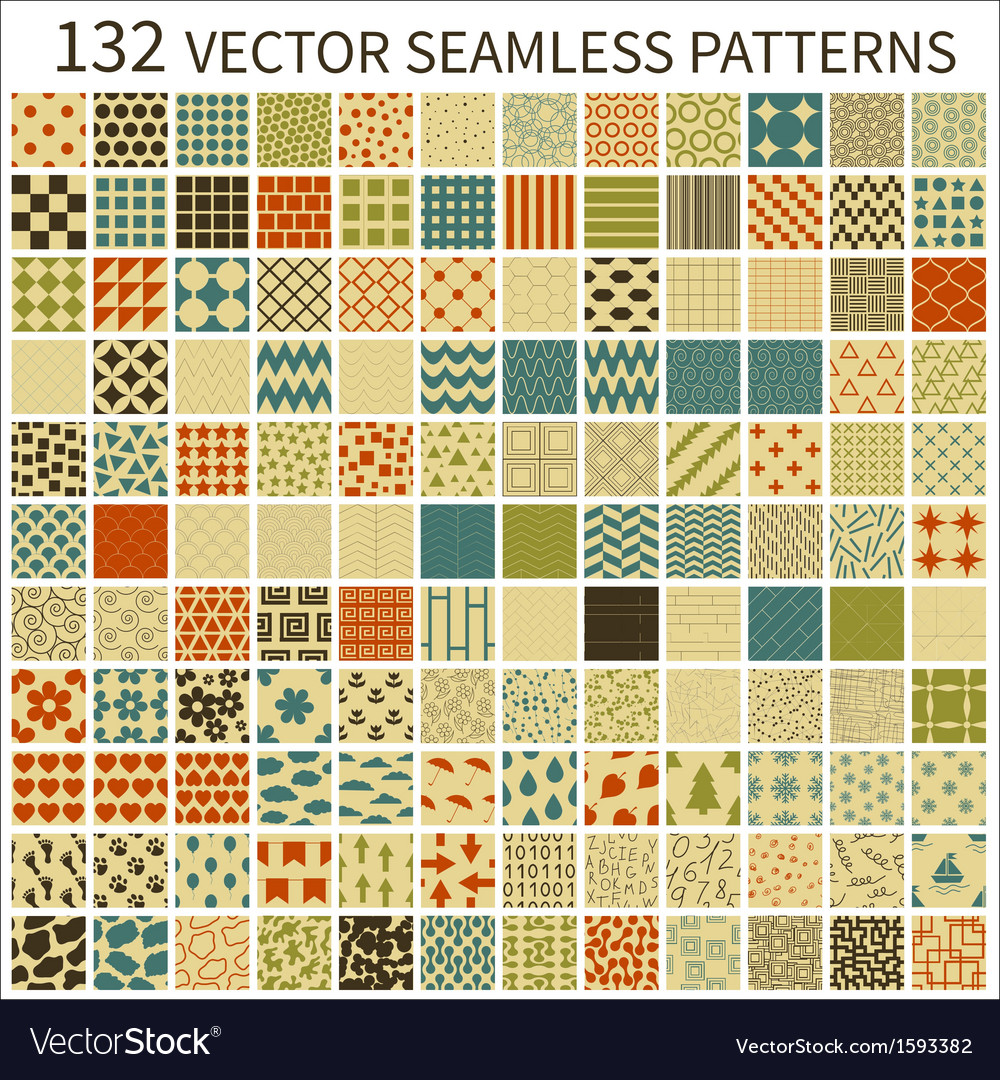 Retro seamless patterns vector