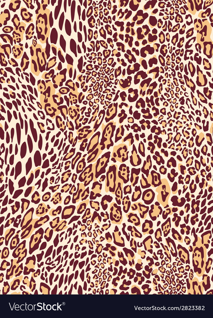 Seamless classic leopard texture pattern vector | Price: 1 Credit (USD $1)