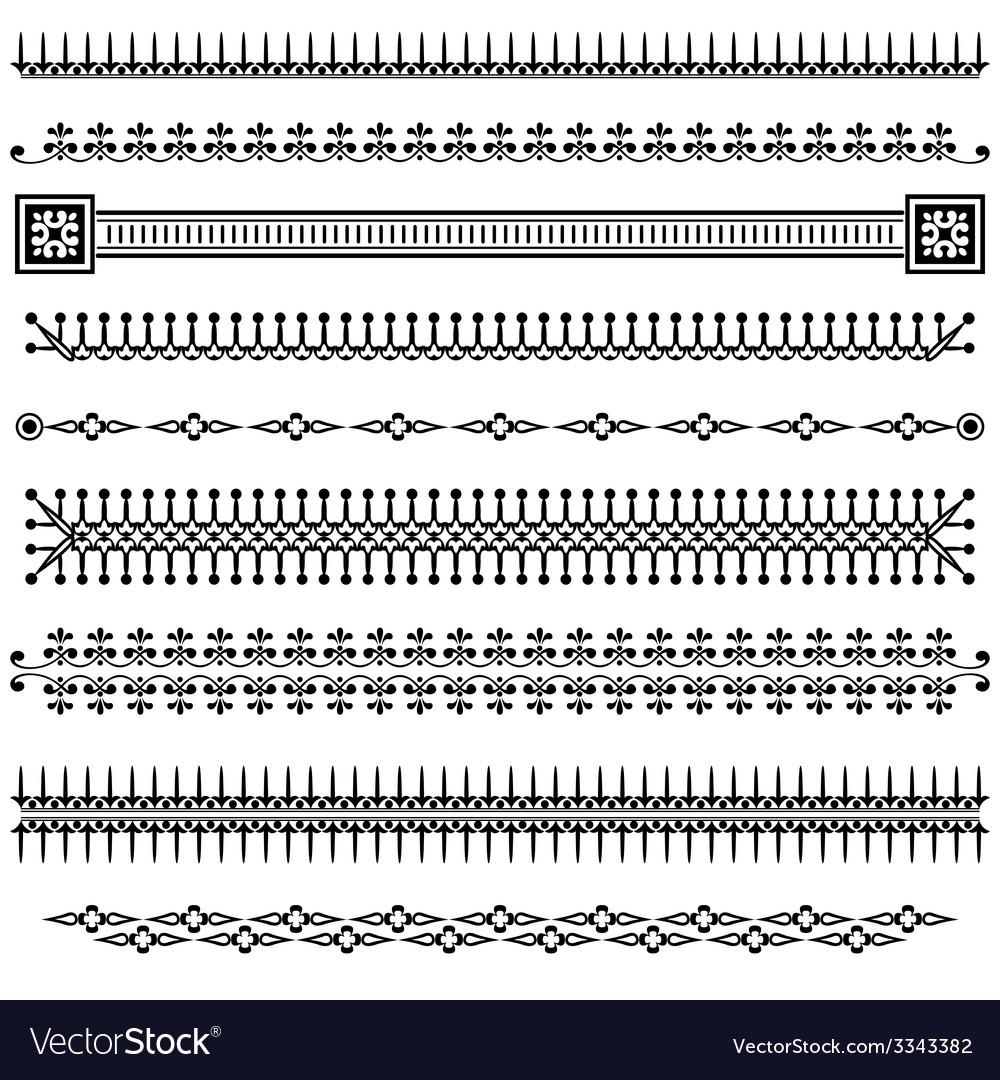 Set border vintage vector | Price: 1 Credit (USD $1)