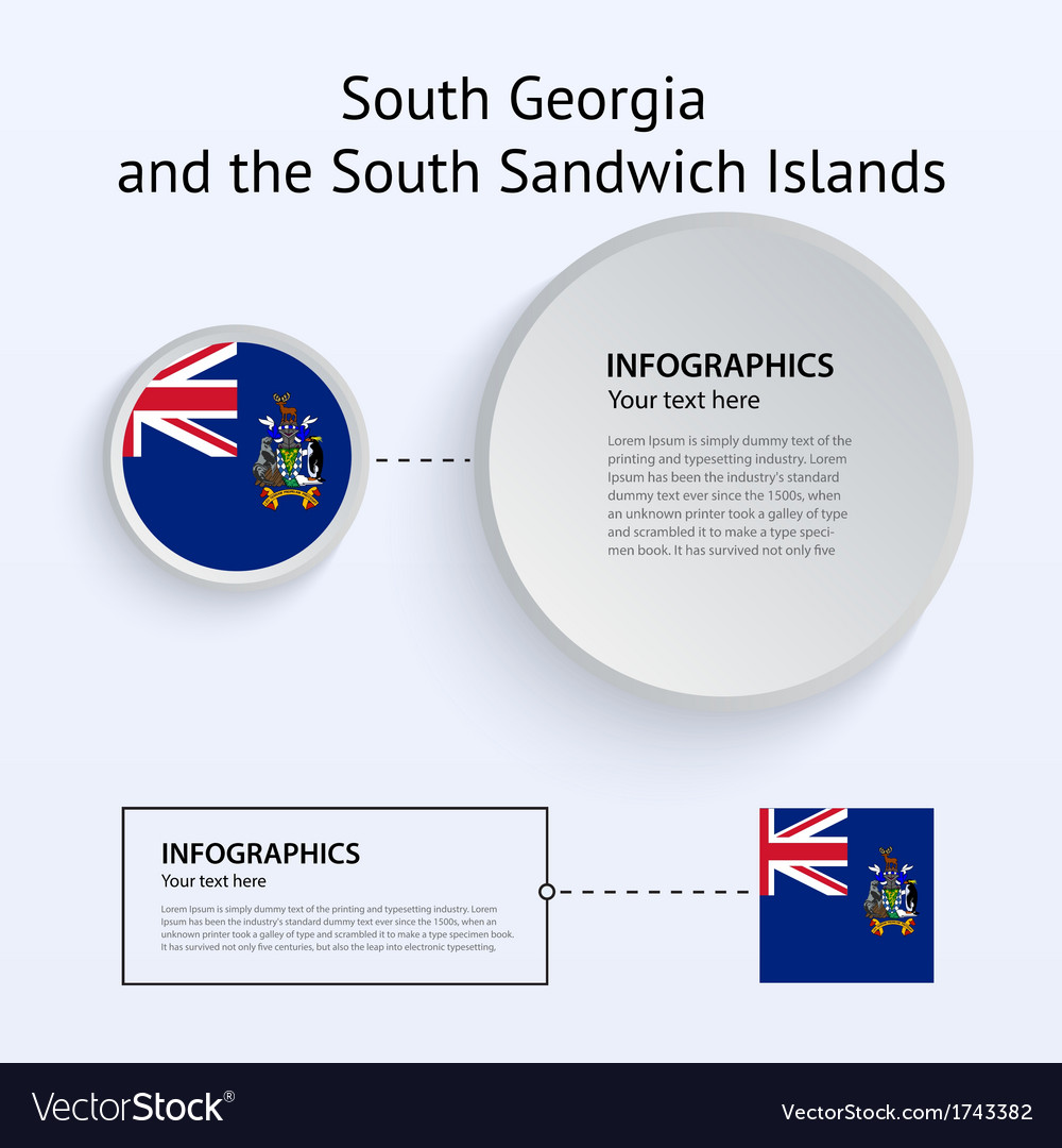 South georgia and sandwich islands country set of vector | Price: 1 Credit (USD $1)