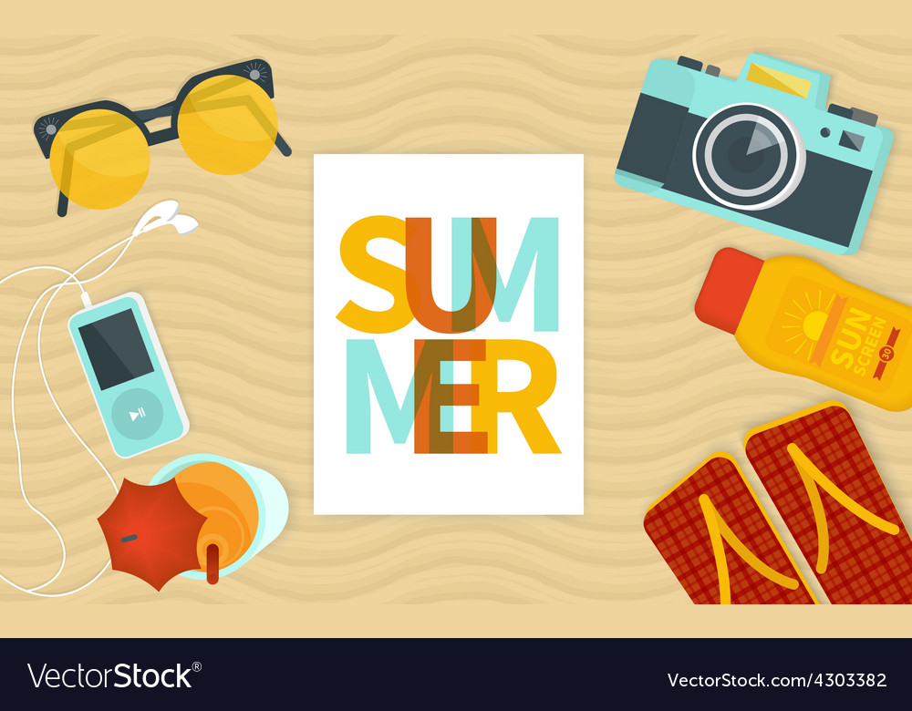 Summer banner template vector | Price: 1 Credit (USD $1)