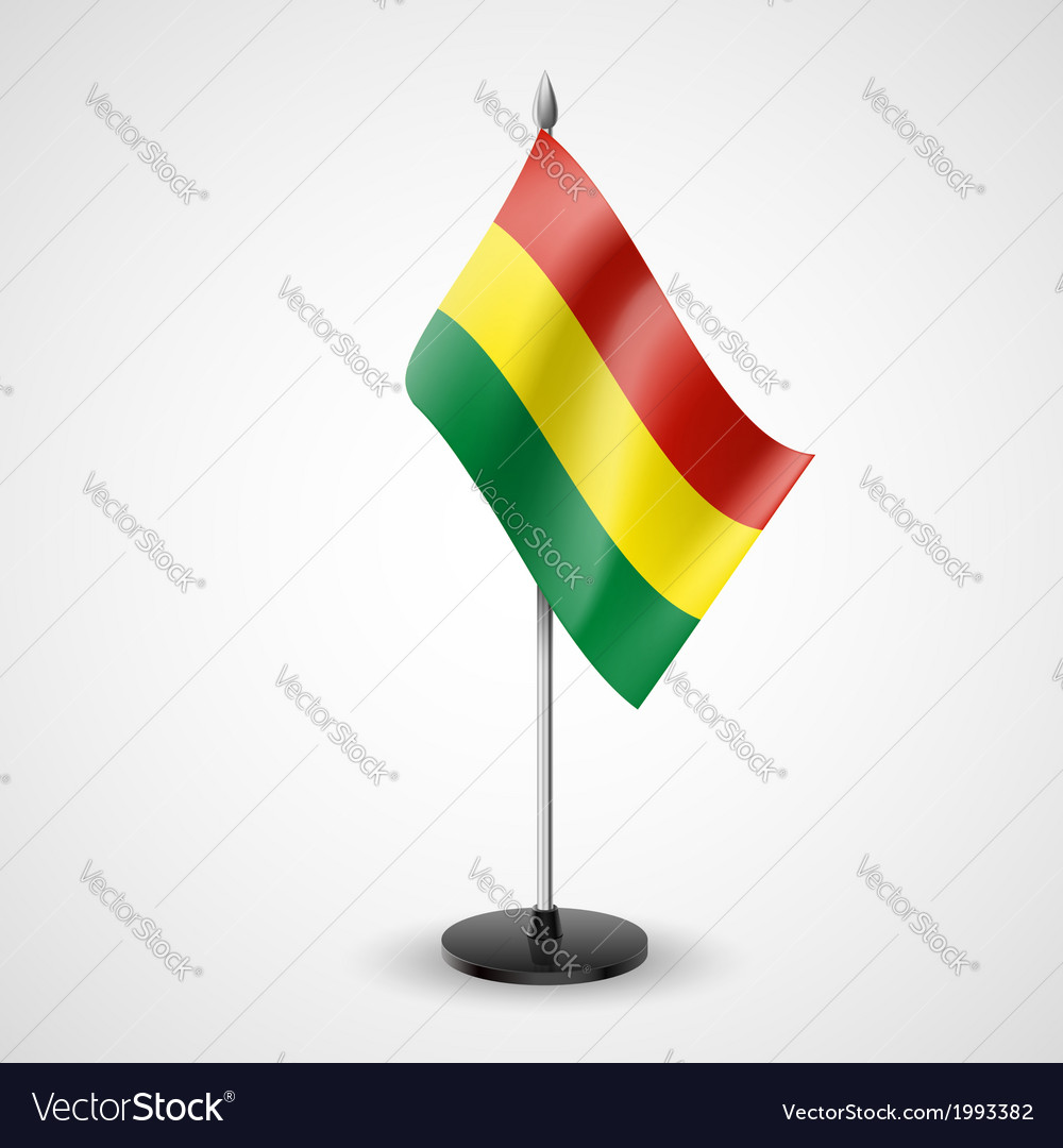 Table flag of bolivia vector | Price: 1 Credit (USD $1)