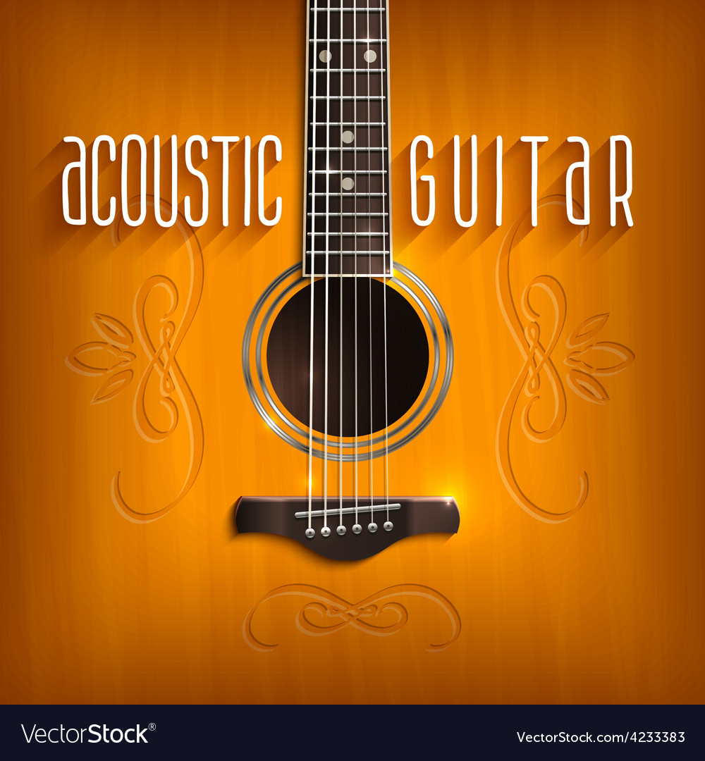 Acoustic guitar background vector | Price: 1 Credit (USD $1)
