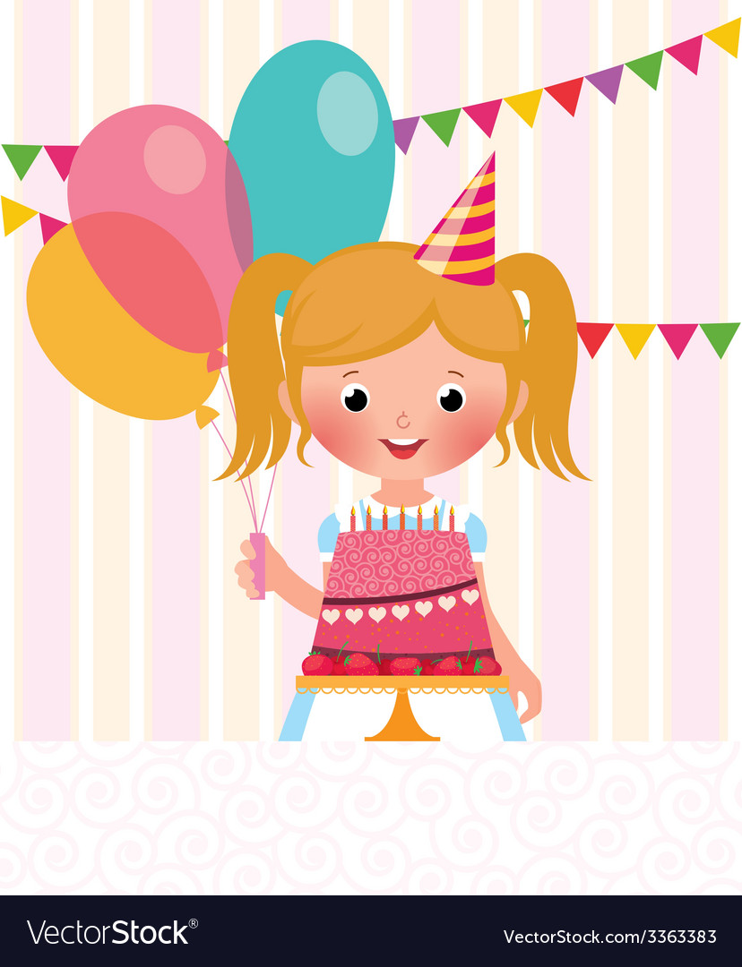 Birthday girl vector | Price: 1 Credit (USD $1)