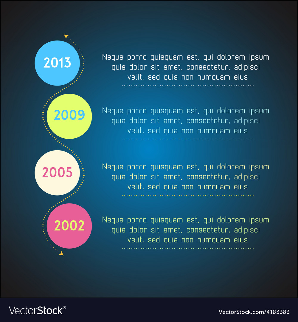 Bright timeline template infographic suitable for vector | Price: 1 Credit (USD $1)