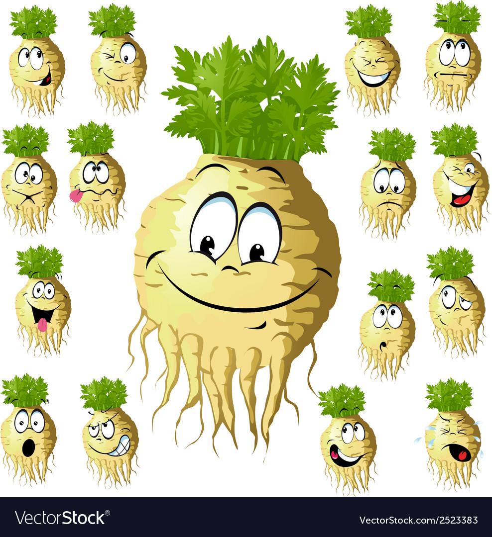 Celery cartoon vector | Price: 1 Credit (USD $1)