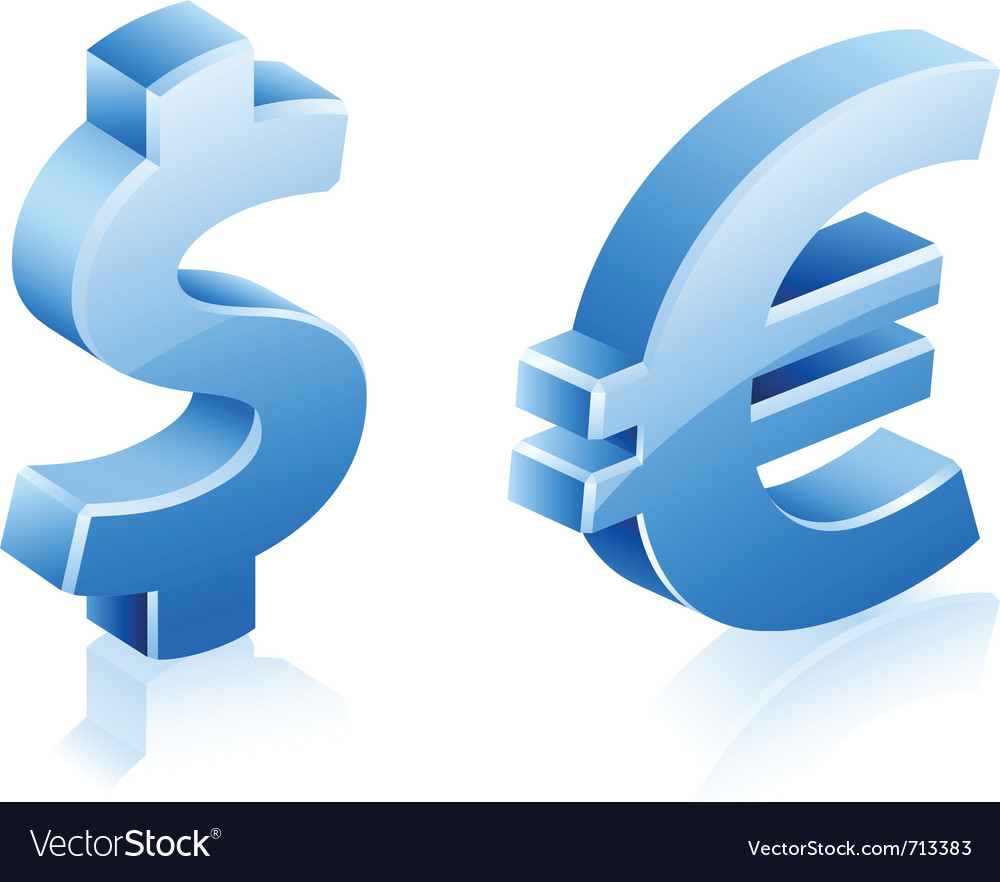 Dollar euro signs vector | Price: 3 Credit (USD $3)