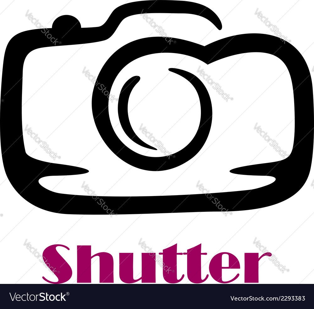 Doodle sketch camera with the word shutter vector | Price: 1 Credit (USD $1)