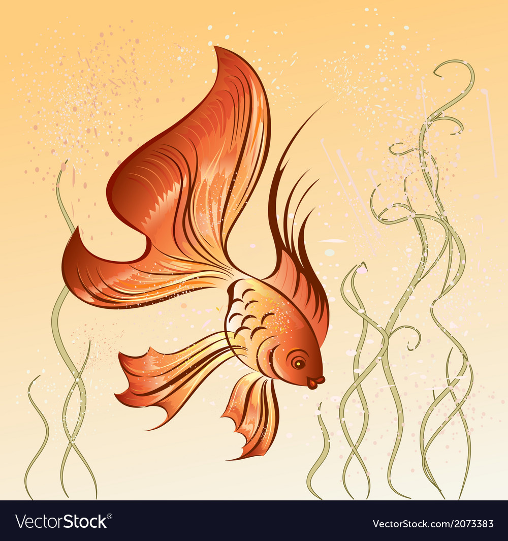 East goldfish vector | Price: 1 Credit (USD $1)