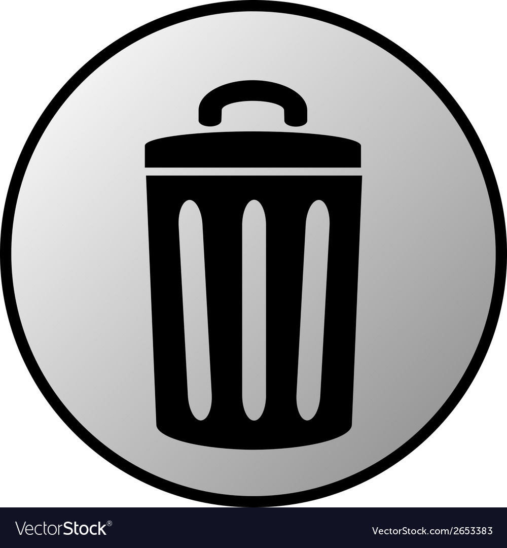 Garbage button vector | Price: 1 Credit (USD $1)