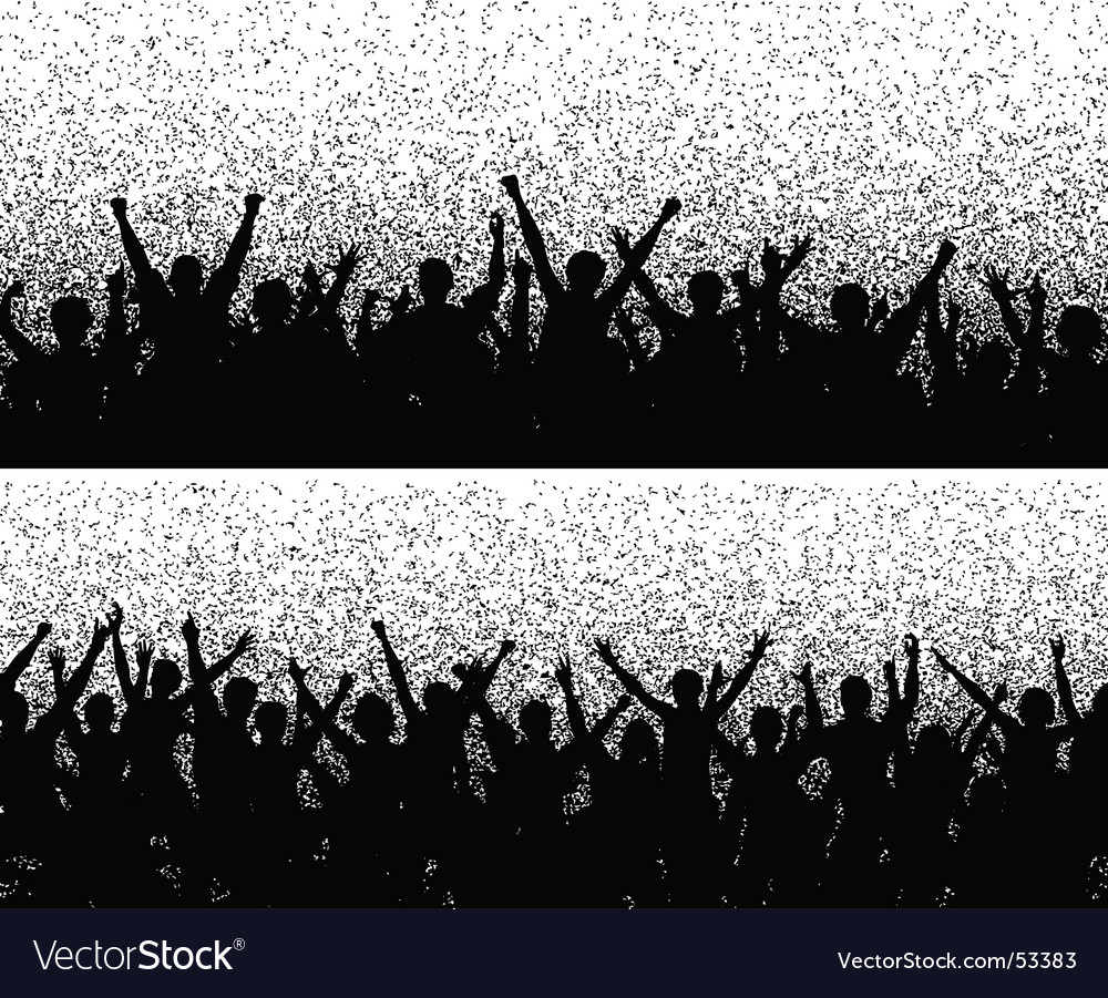 Grainy crowds vector | Price: 1 Credit (USD $1)