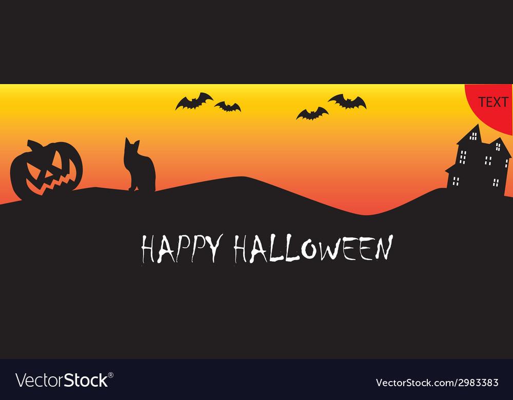 Happy halloween banner vector | Price: 1 Credit (USD $1)