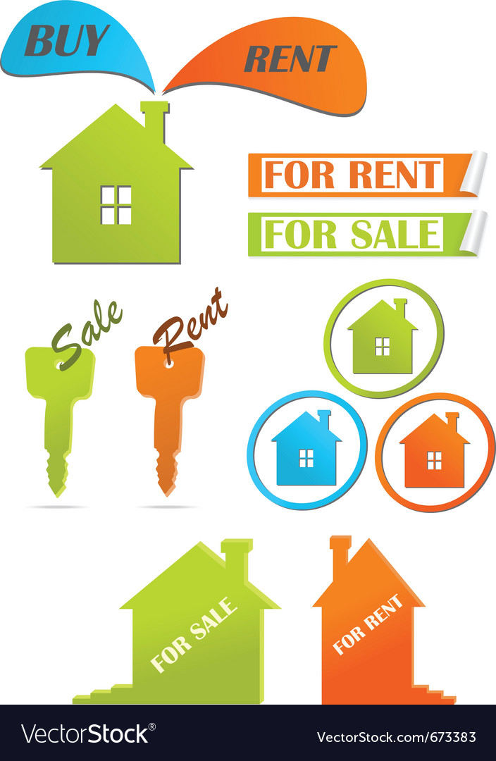 Icons and stickers for real estate vector | Price: 1 Credit (USD $1)