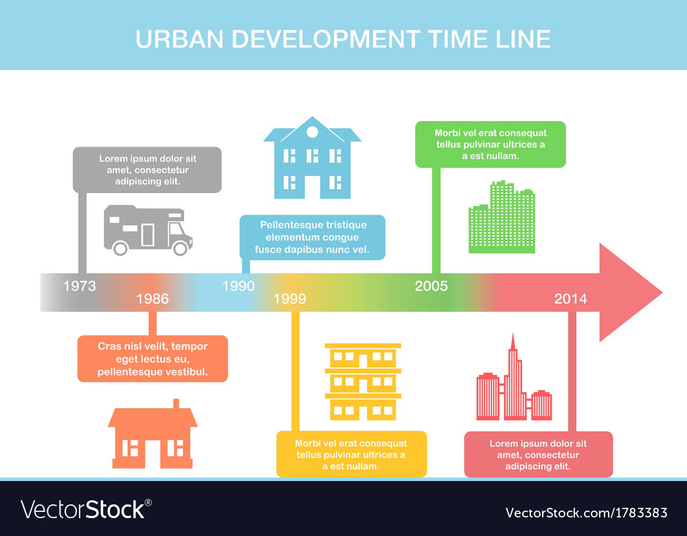 Infographic timeline elements with real estate vector | Price: 1 Credit (USD $1)