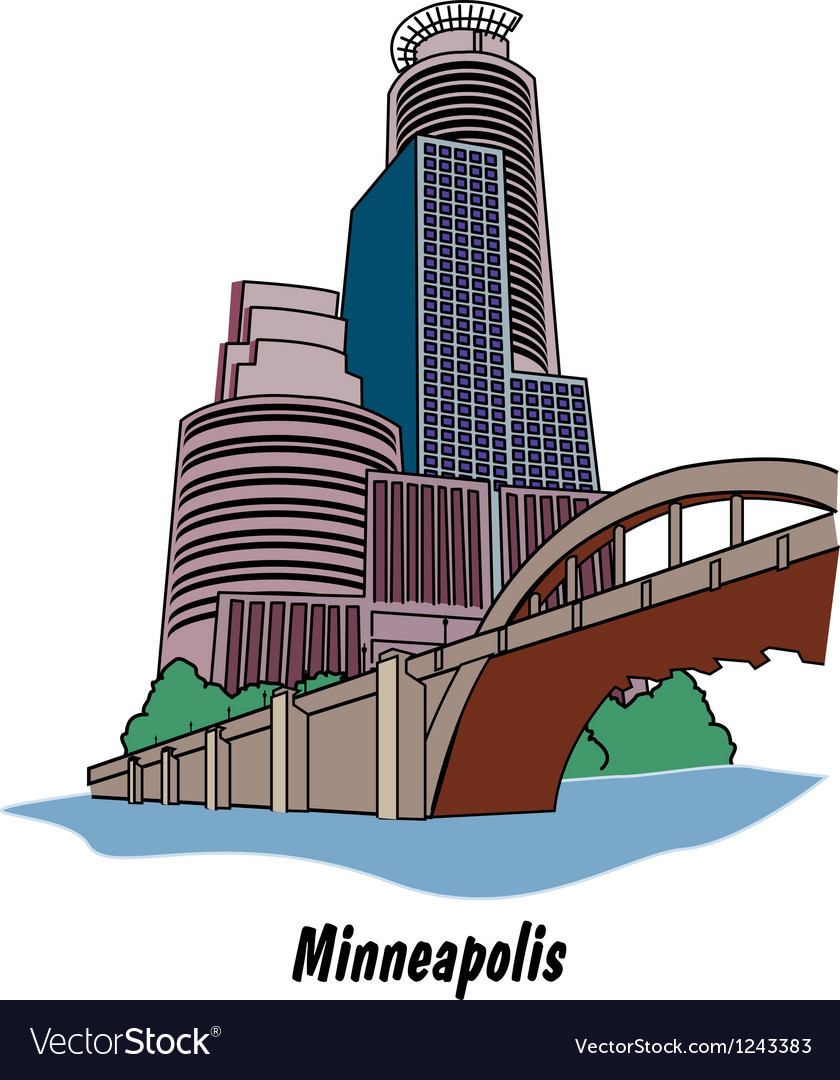 Minneapolis minnesota vector | Price: 1 Credit (USD $1)