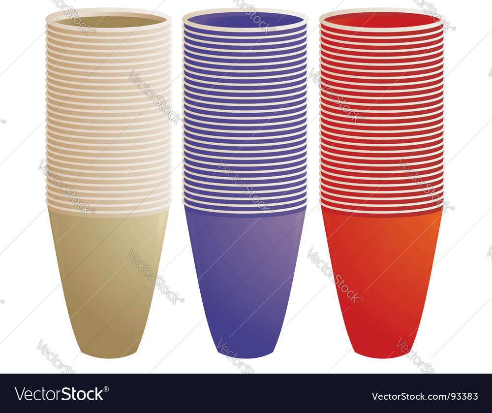 Stacked plastic cups vector | Price: 1 Credit (USD $1)