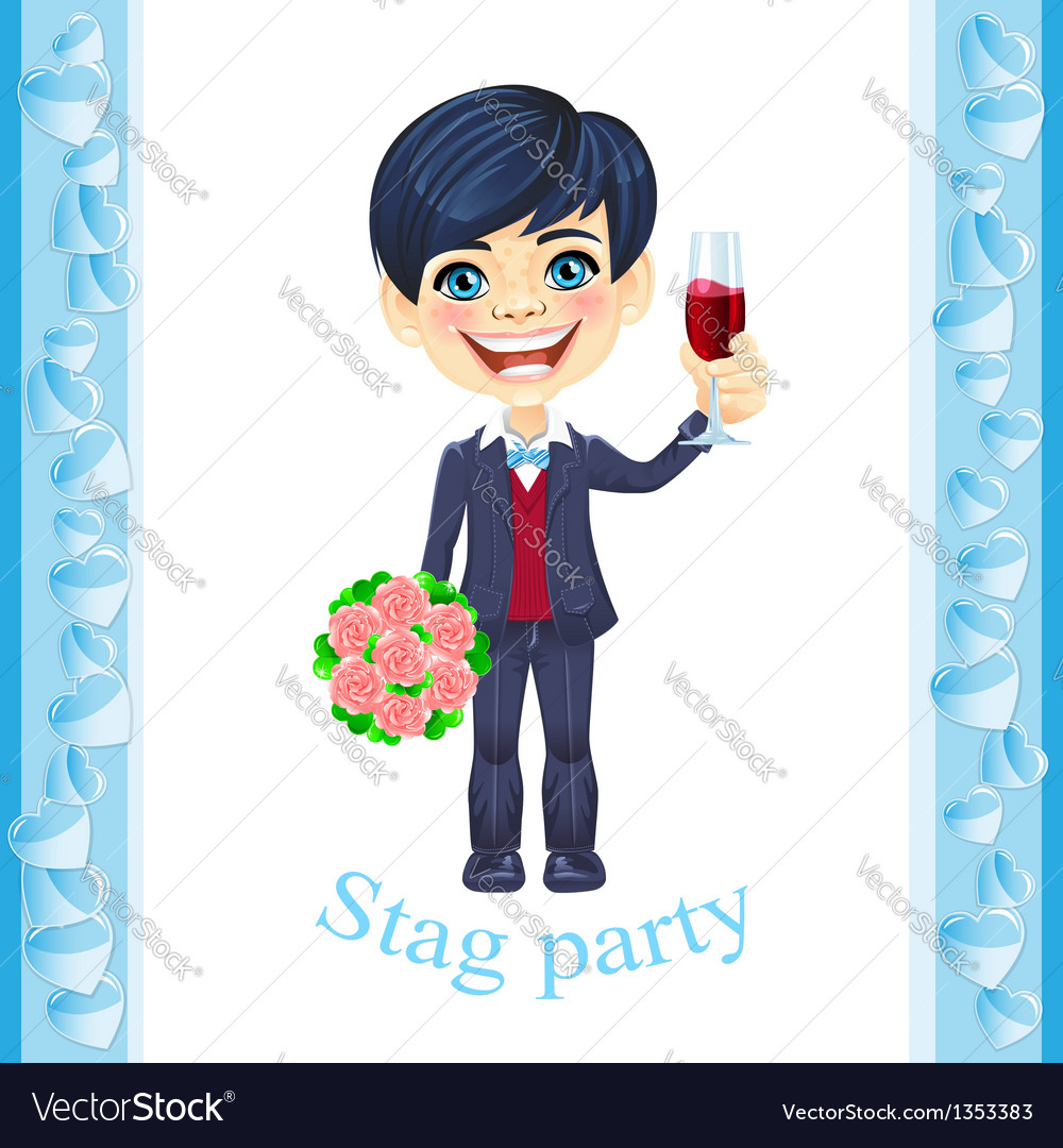 Stag party invitation vector | Price: 3 Credit (USD $3)