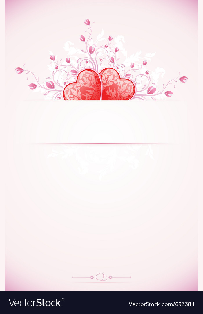 Abstract valentines day card vector | Price: 1 Credit (USD $1)