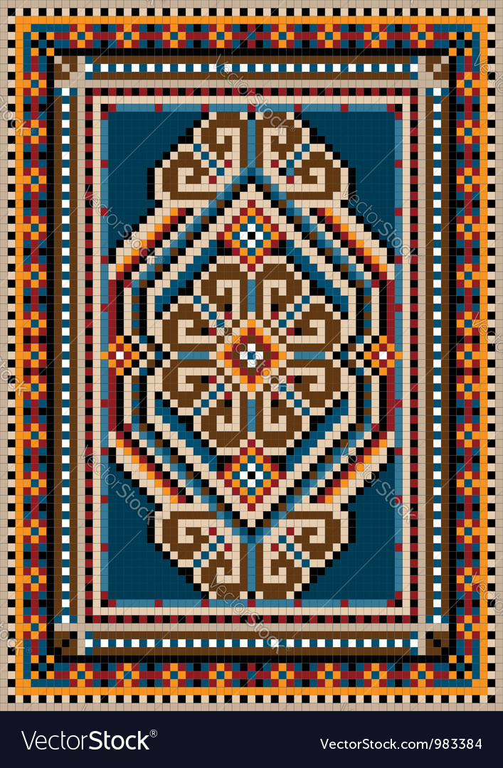 The ancient oriental design for carpe vector | Price: 1 Credit (USD $1)