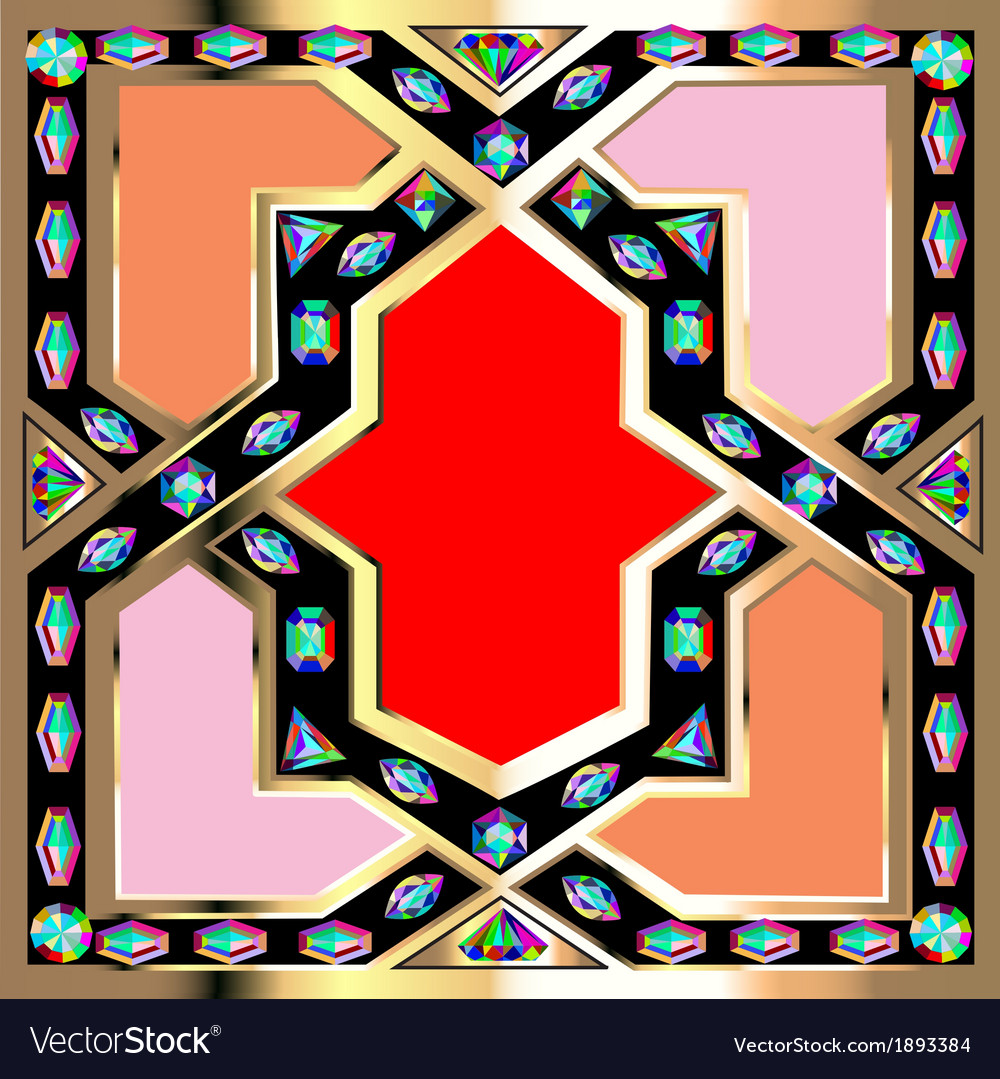 Background frame with jewels vector   Price: 1 Credit (USD $1)