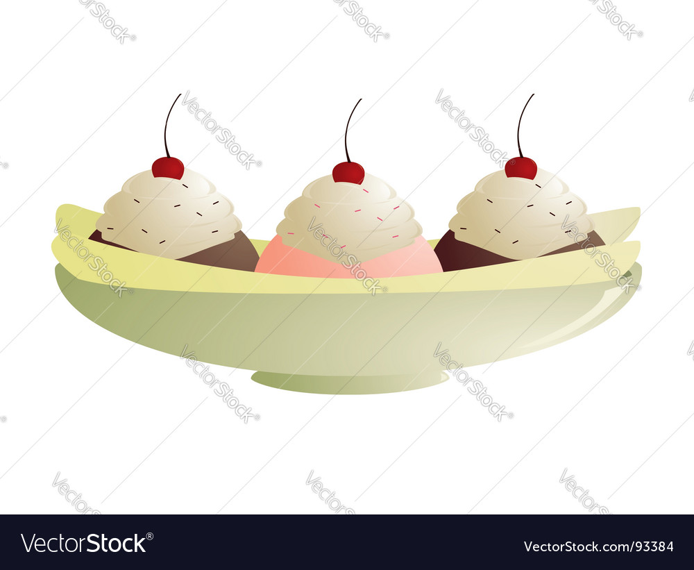 Banana split vector | Price: 1 Credit (USD $1)