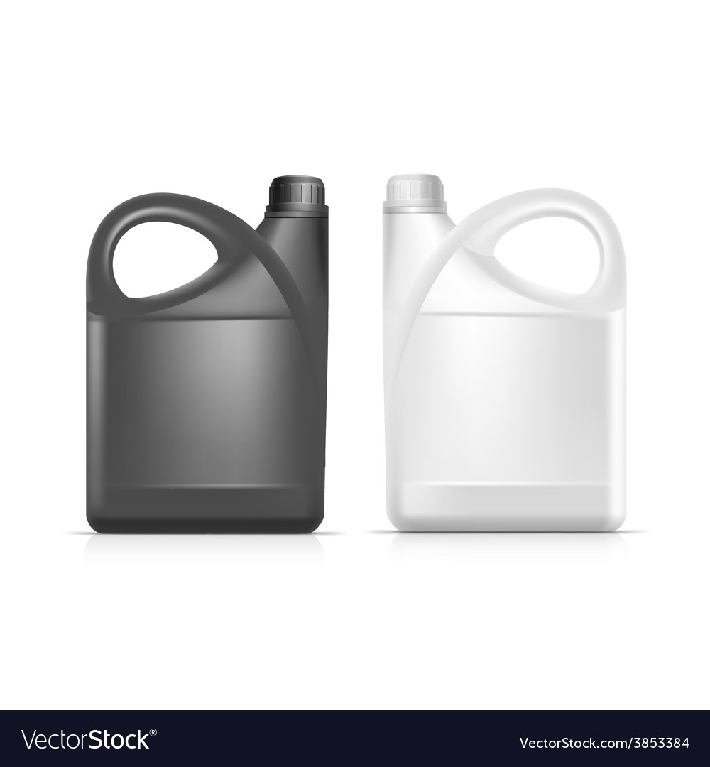 Blank plastic jerrycan canister gallon oil vector | Price: 3 Credit (USD $3)