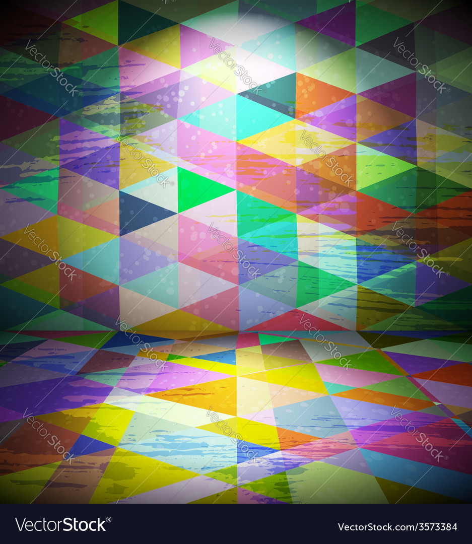 Club room with triangled wallpaper vector | Price: 1 Credit (USD $1)
