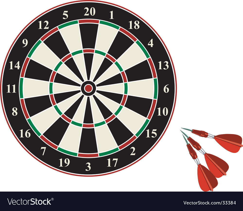 Darts on white background vector | Price: 1 Credit (USD $1)