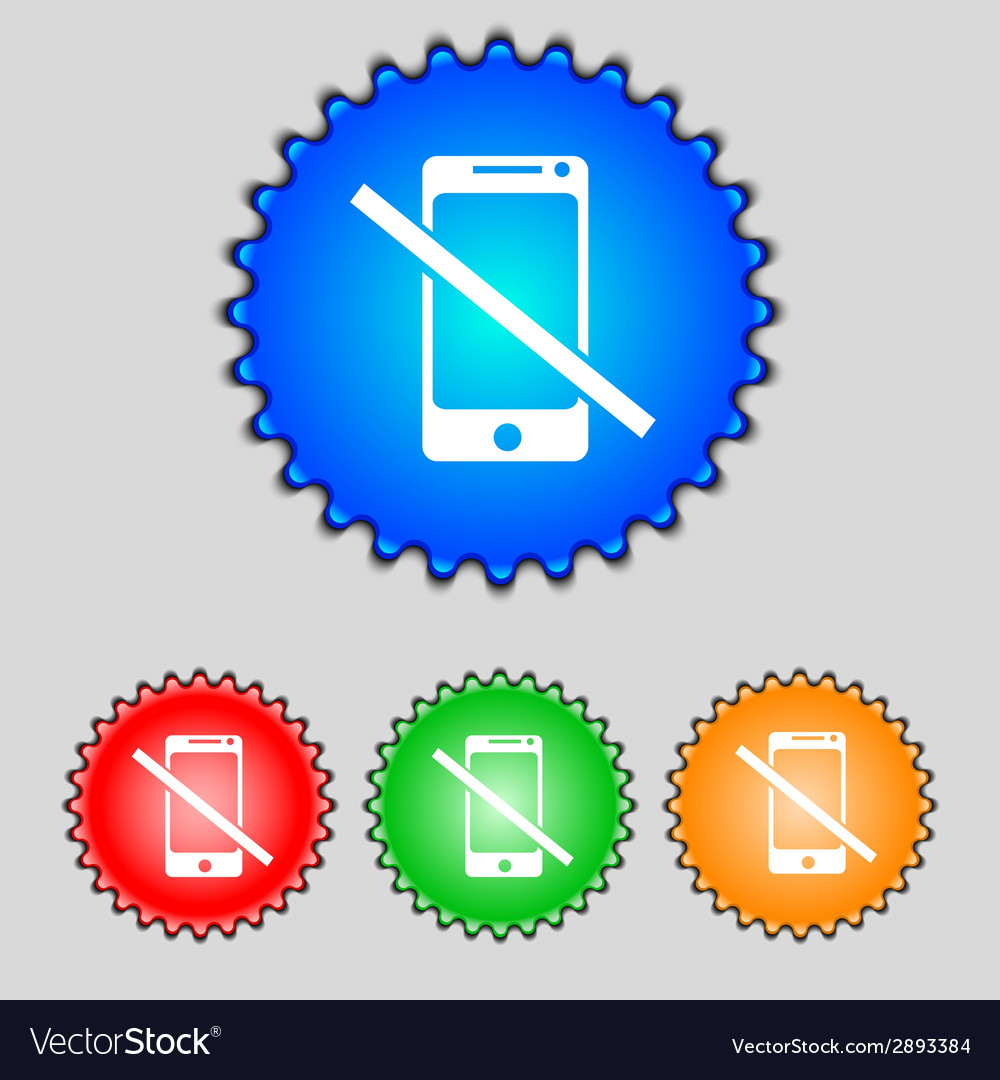 Do not call smartphone signs icon support symbol vector   Price: 1 Credit (USD $1)