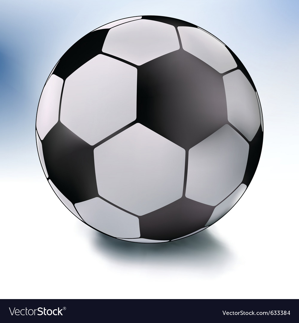 Single soccer ball on white and sky eps 8 vector | Price: 1 Credit (USD $1)