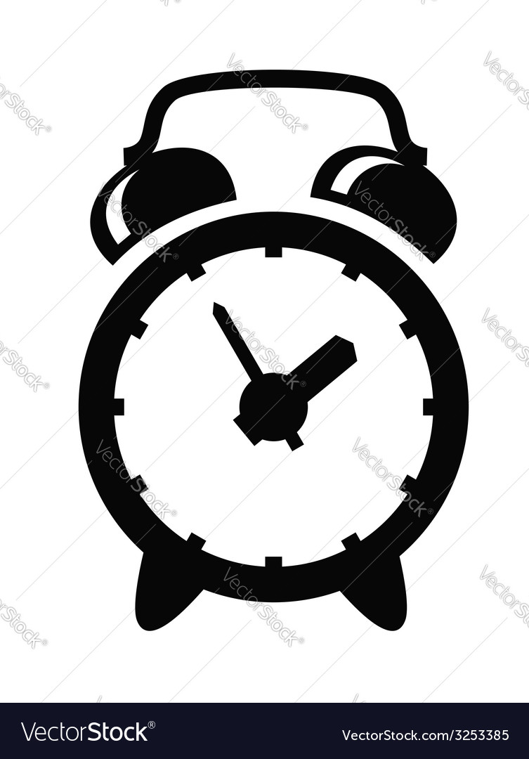 Alarm clock icon vector | Price: 1 Credit (USD $1)