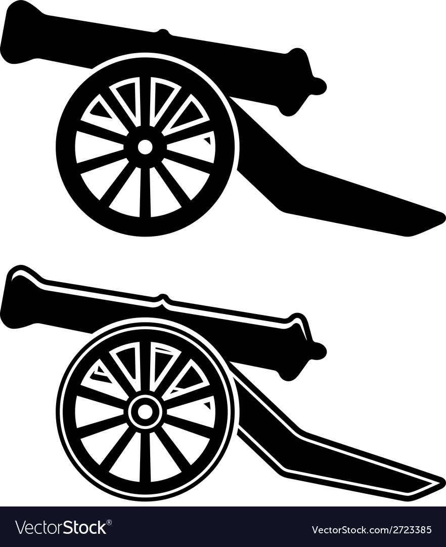 Ancient cannon symbol vector | Price: 1 Credit (USD $1)