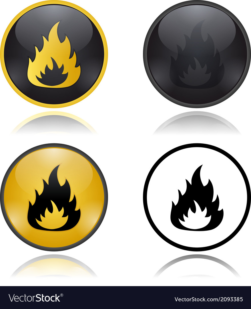 Danger fire risk warning signs vector | Price: 1 Credit (USD $1)