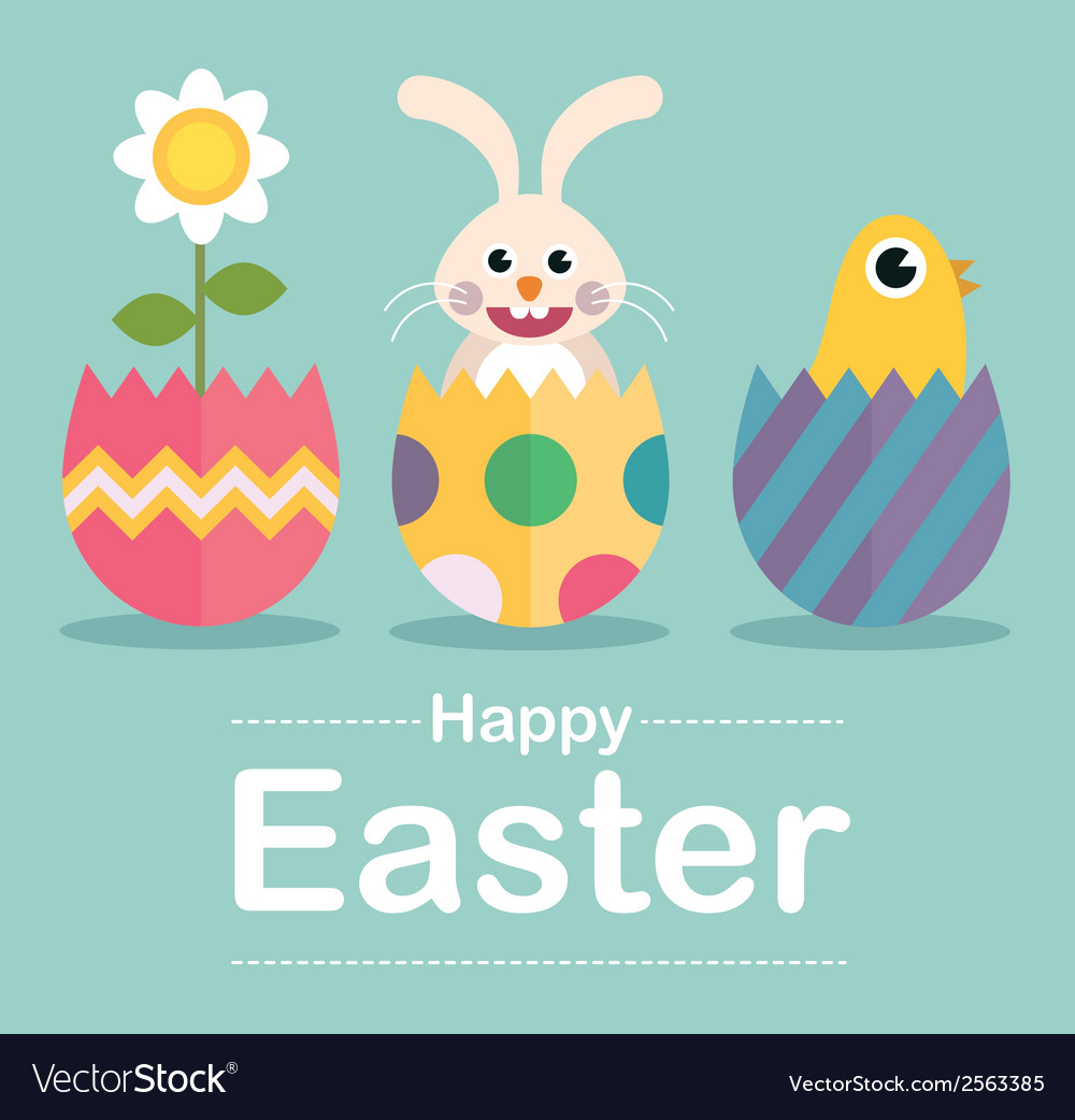 Happy easter surprise vector | Price: 1 Credit (USD $1)