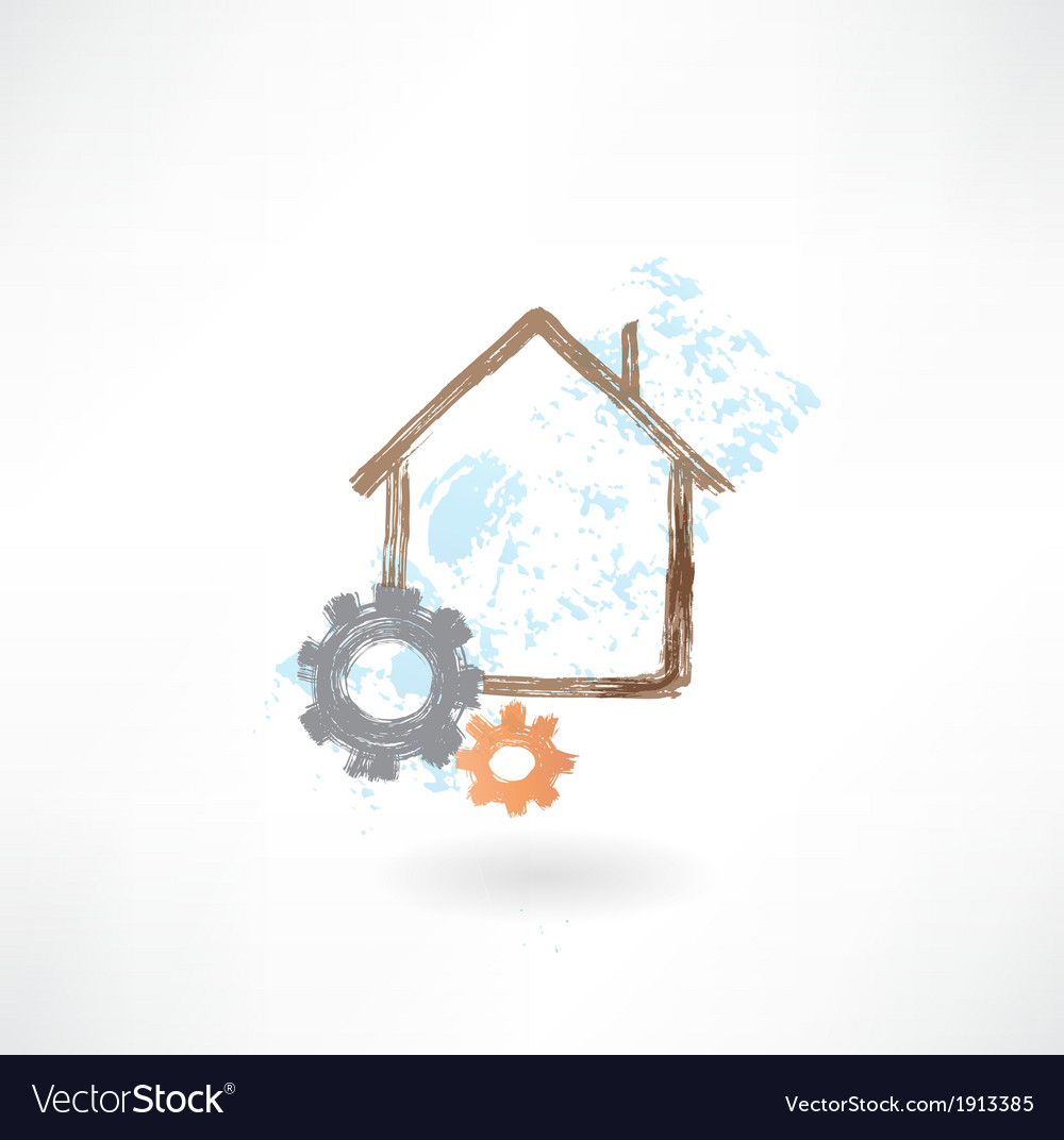 House repair grunge icon vector | Price: 1 Credit (USD $1)