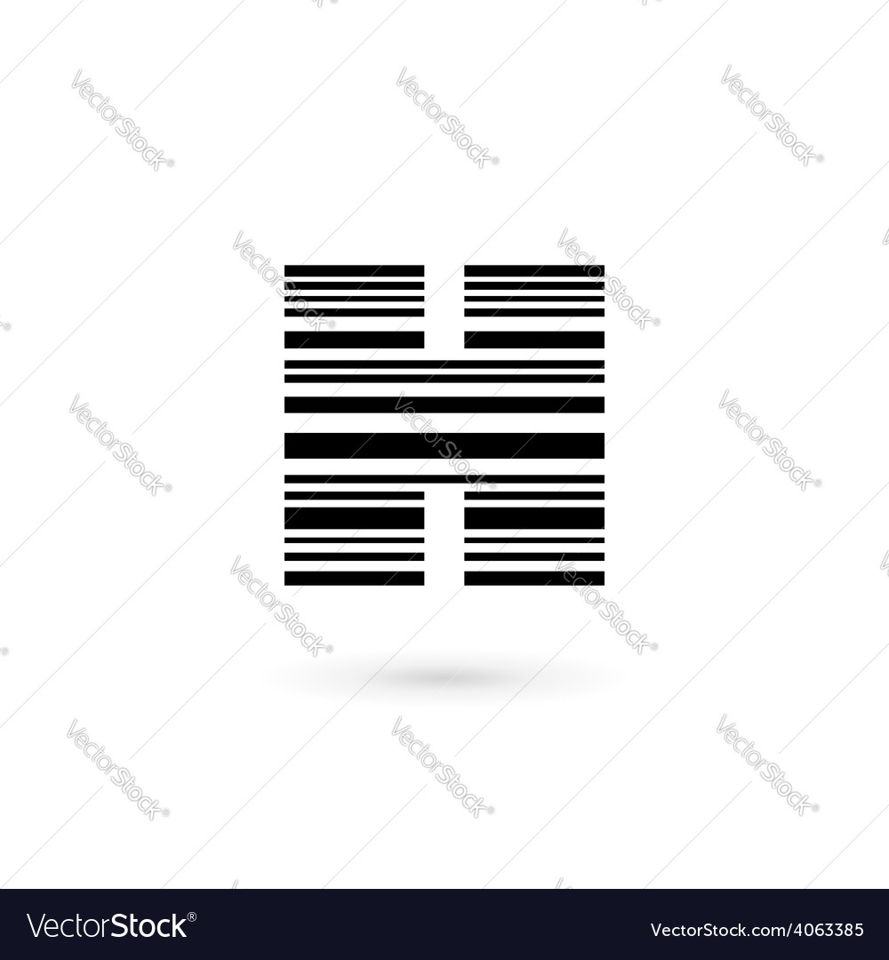Letter h barcode logo icon design template vector | Price: 1 Credit (USD $1)