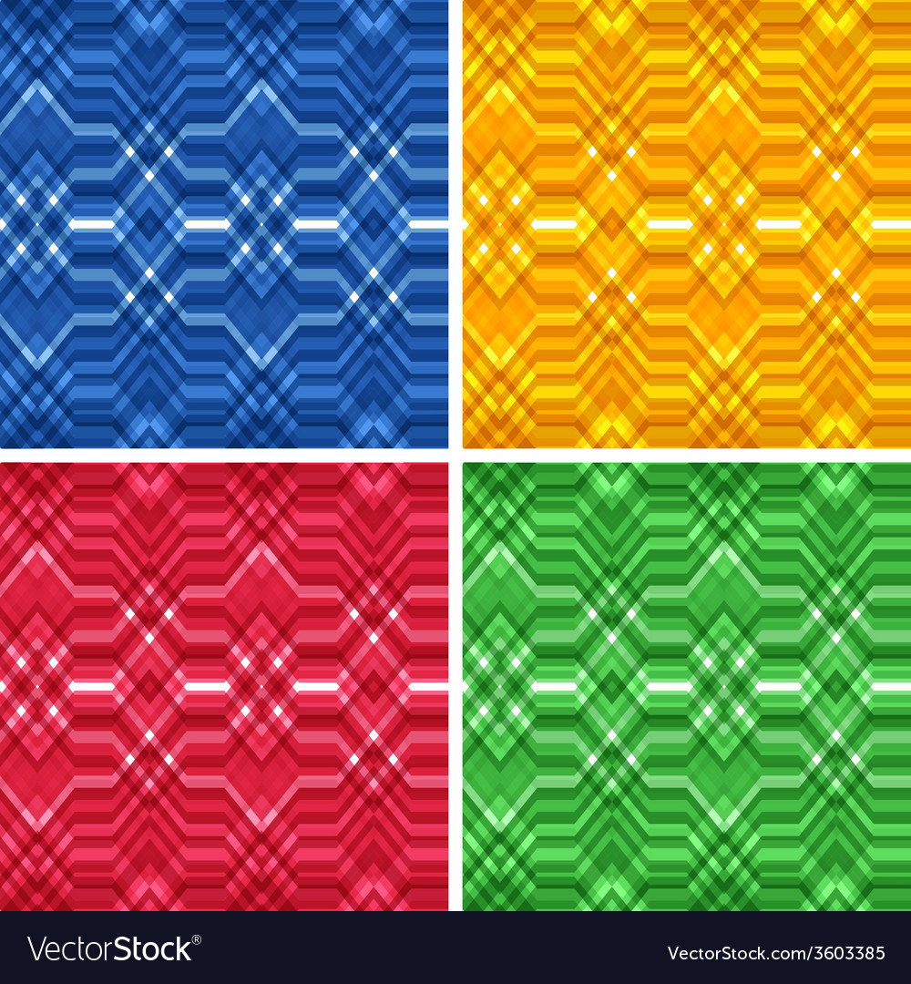 Set of seamless color abstract retro backgrounds vector | Price: 1 Credit (USD $1)