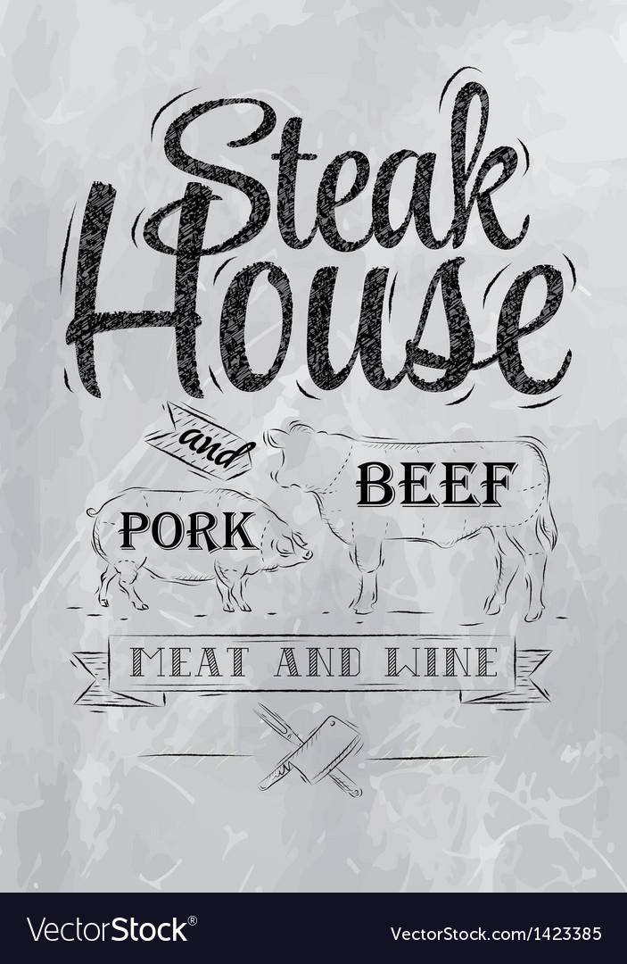 Steak house coal vector | Price: 1 Credit (USD $1)