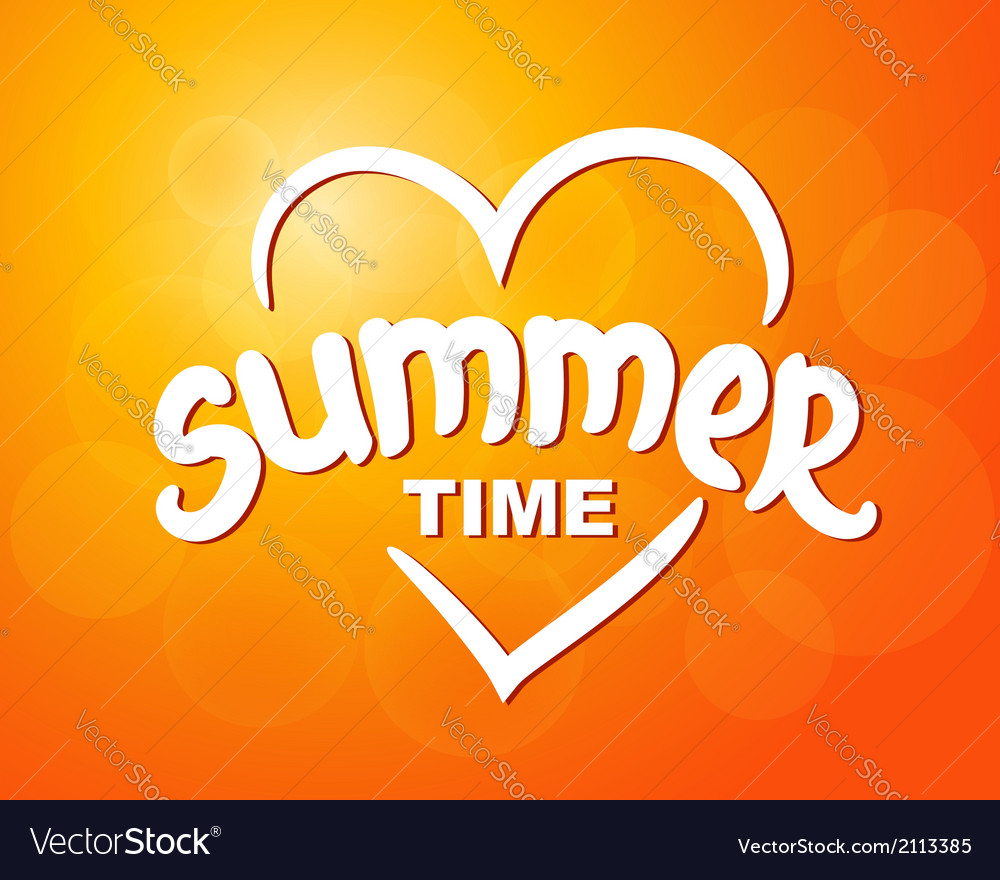 Summer time - typographic design vector | Price: 1 Credit (USD $1)