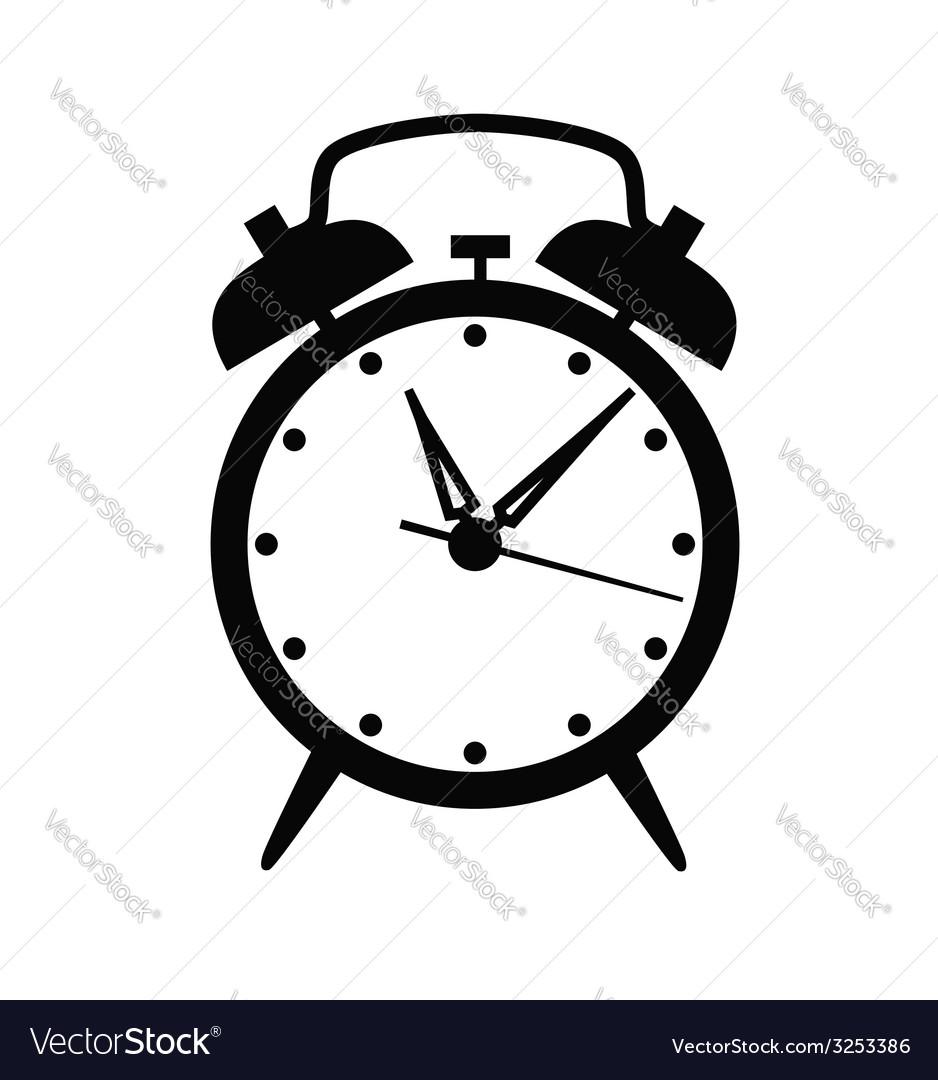 Alarm clock icon vector   Price: 1 Credit (USD $1)